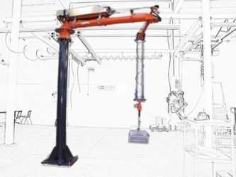 ATISacer 150 rope manipulator with sensitive handle