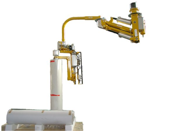 Overhead manipulator, clamp mandrel, bobbin 0-90° pneumatic tilt