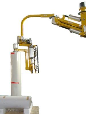 Overhead manipulator, clamp mandrel, bobbin 0-90° pneumatic tilt