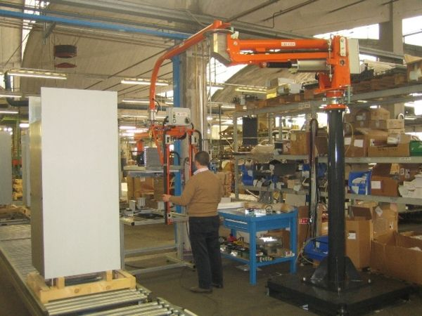 Manipulator for motor panels and installation over refrigerators 03