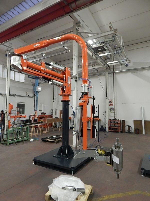Manipolatore industriale ATIS per rotori e statori senza avvolgimento, bilanciatori di carichi speciali R140018