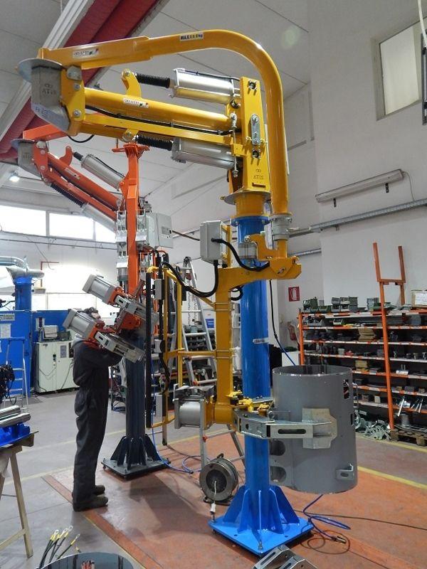 Manipolatori industriali ad azionamento pneumatico per movimentazione rotori e statori R140245