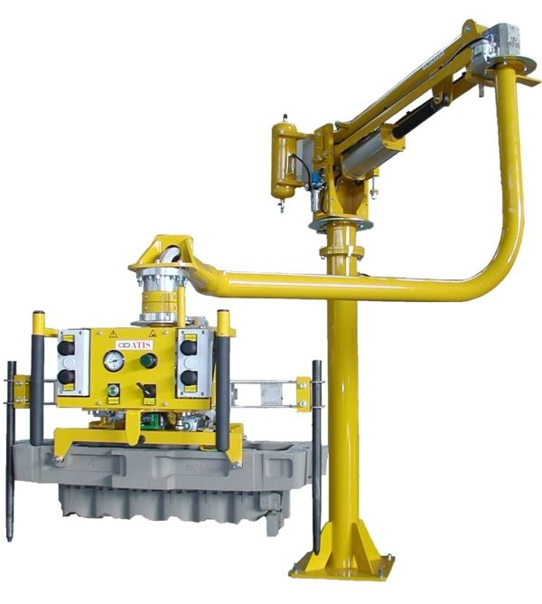 Manipulator for cylinder heads and sand casts