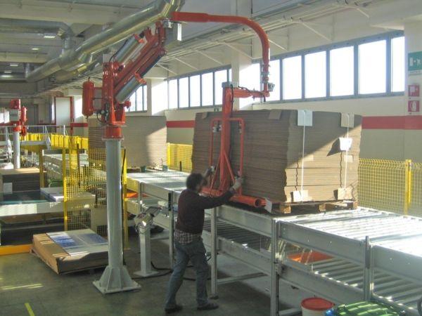 Cardboard sheets packaging - Pneumatic Manipulator ATIS