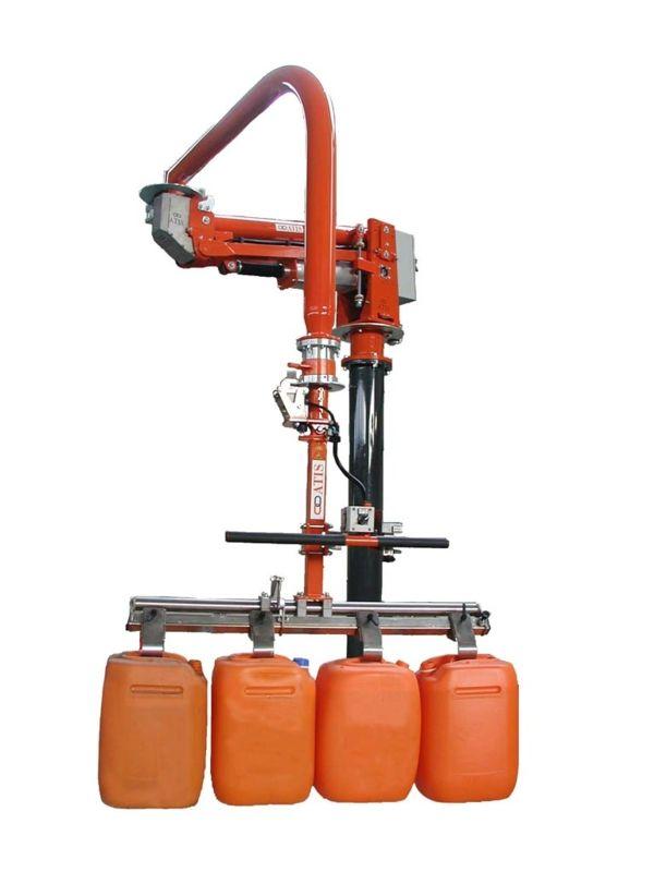 Imballaggi taniche-secchi - Manipolatore pneumatico ATIS