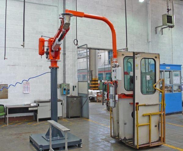 Manipolatore ATIsmirus 100 industriale con ventose per porte treni