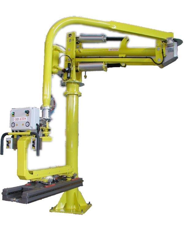 Montaje camilla TAC - Manipulador neumático ATIS