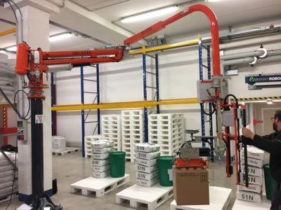 manipolatore industriale pneumatico ATIS azzeratore di peso bilanciatore di carichi con ventosa per scatole