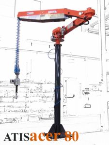Manipolatore pneumatico industriale a funi ATIS:bilanciatore di carichi - azzeratore di peso