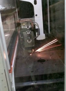 i primi tagli laser per produzione manipolatori pneumatici ATIS
