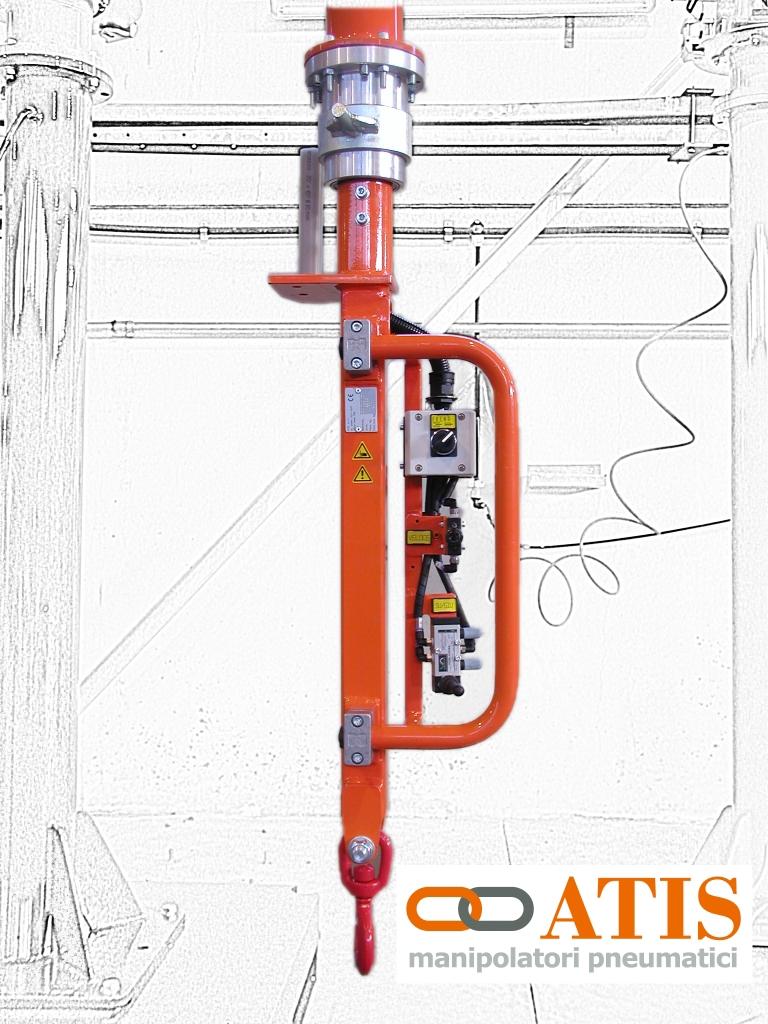 Atis Manipulators Hook Gripping Tools On A Pneumatic
